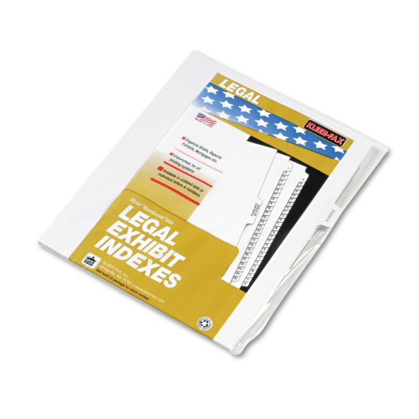 Kleer-Fax 90000 Series Side-Tab Legal Exhibit Index Dividers