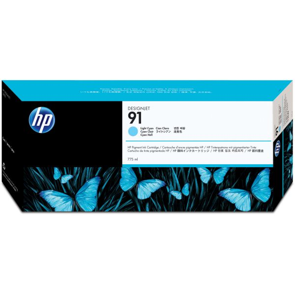HP 91 Light Cyan Ink Cartridge (C9470A)