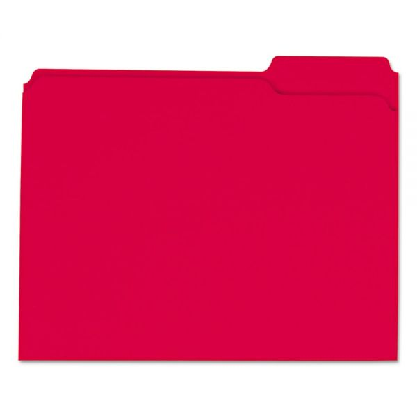 Universal Red Colored File Folders