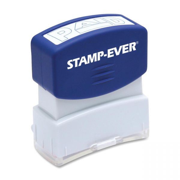 Stamp-Ever Pre-inked Blue Paid Stamp