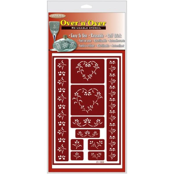 """Over 'N' Over Reusable Stencils 5""""X8"""""""