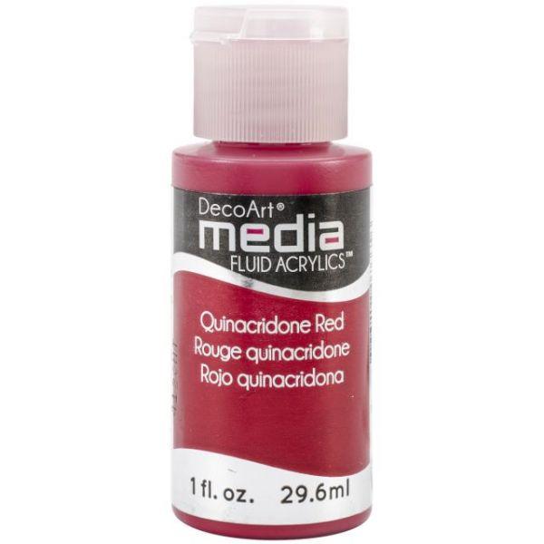 Deco Art Quinacridone Red Media Fluid Acrylic