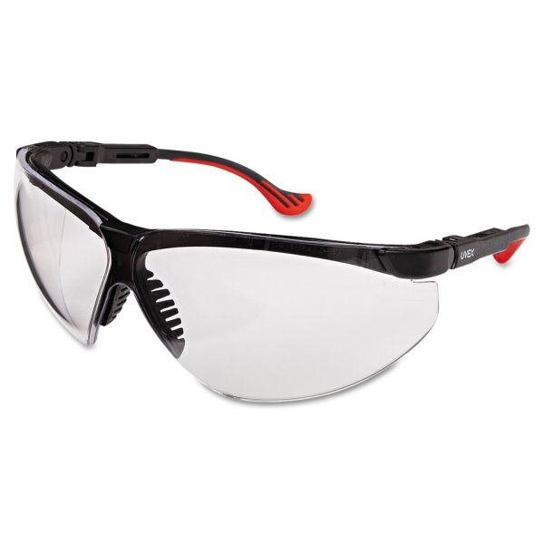 Honeywell Uvex Genesis XC Two-Shot Safety Glasses, Black Frame, Clear Lens