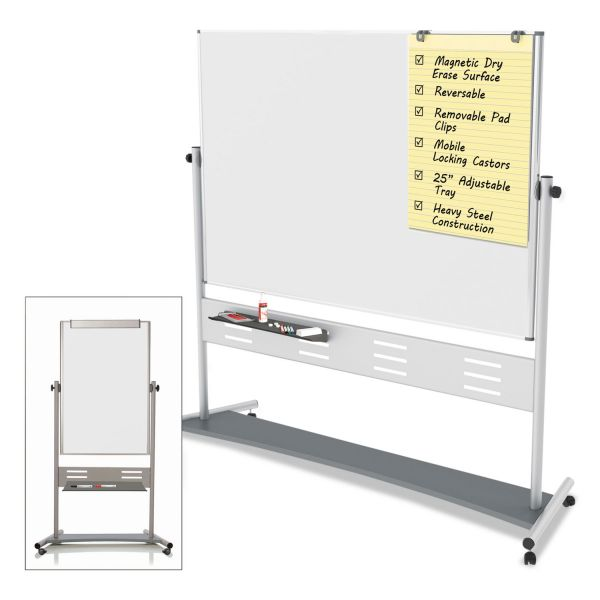 MasterVision Double-Sided Mobile Dry Erase Easel