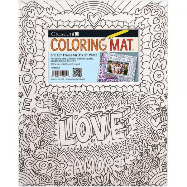 """Crescent Coloring Mat 8""""X10"""""""