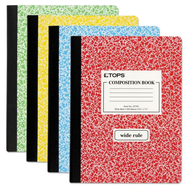 TOPS Composition Notebook w/Hard Cover