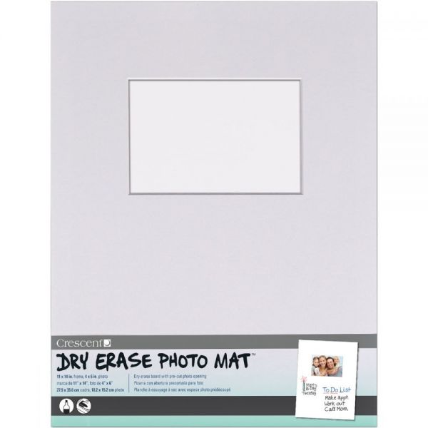 "Dry-Erase 11""X14"" Photo Mat Holds 4""X6"" Photo"