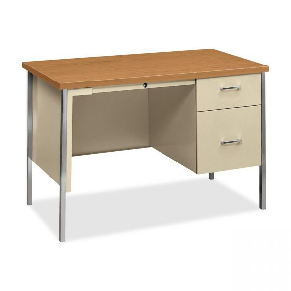 "HON 34000 Series Small Office Desk | 1 Box / 1 File Drawer | 45-1/4""W"