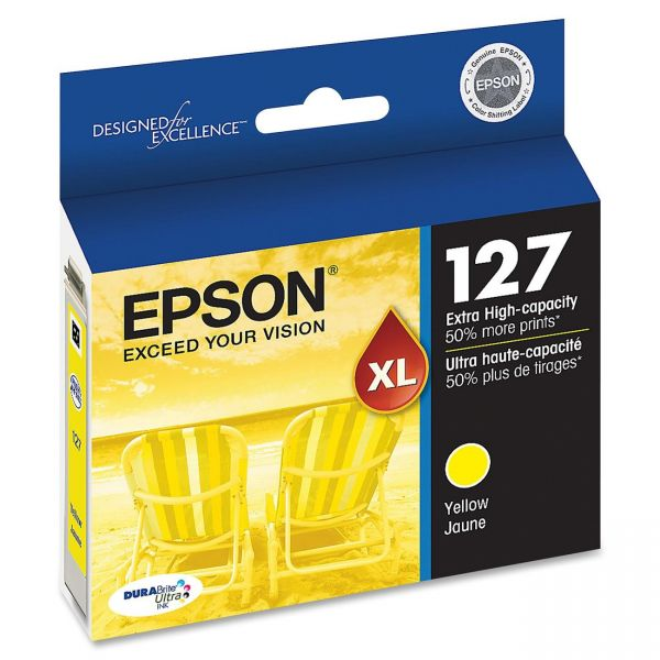 Epson 127 Yellow High Capacity Ink Cartridge (T127420)