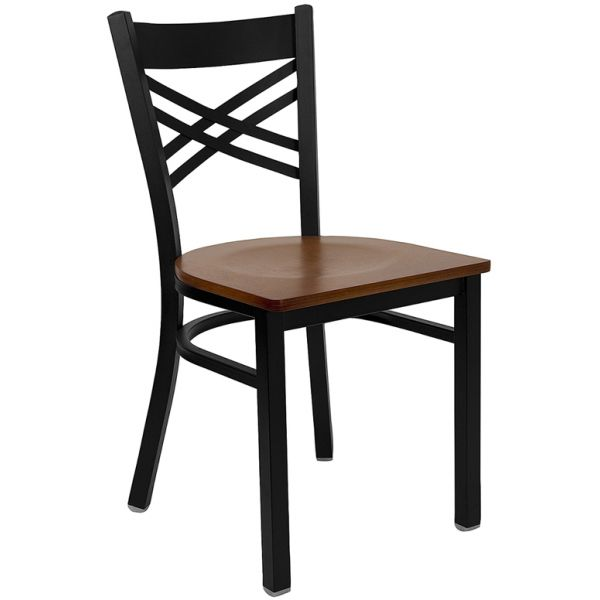 Flash Furniture ''X'' Back Metal Restaurant Chair