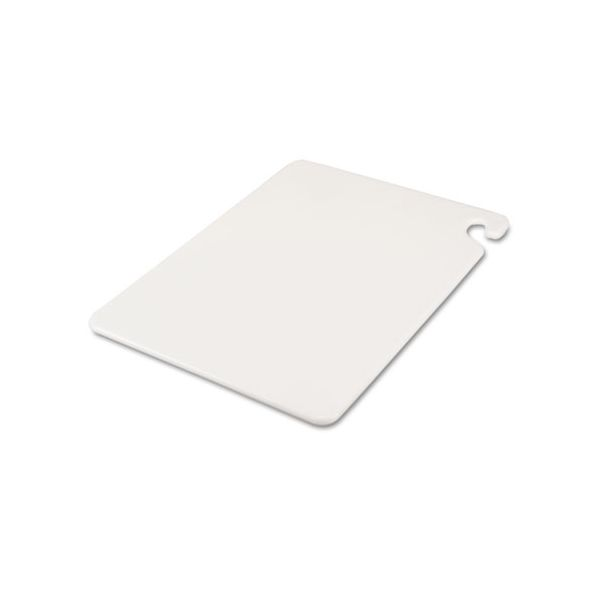 San Jamar Cut-N-Carry Color Cutting Boards, Plastic, 20w x 15d x 1/2h, White