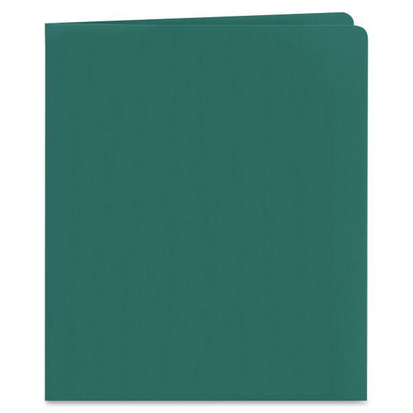 Smead Heavyweight Teal Two Pocket Folders