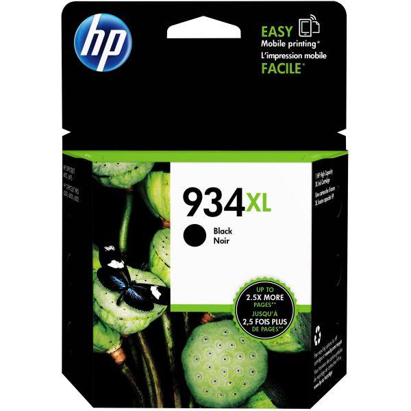 HP 934 XL High-Yield Black Ink Cartridge (C2P23AN)