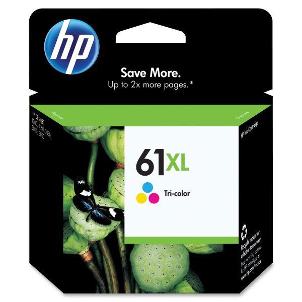 HP 61XL High-Yield Tri-Color Ink Cartridge (CH564WN)