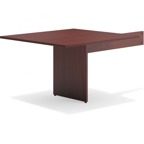 basyx BL Laminate Series Rectangle-Shaped Modular Table End, 48 x 44 x 29.5, Mahogany