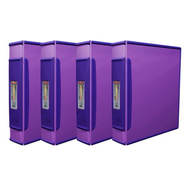 """Storex 2"""" DuraGrip Binder, Purple (Case of 4)"""