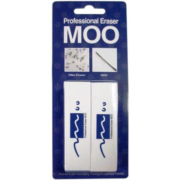 MOO PVC Erasers 2/Pkg