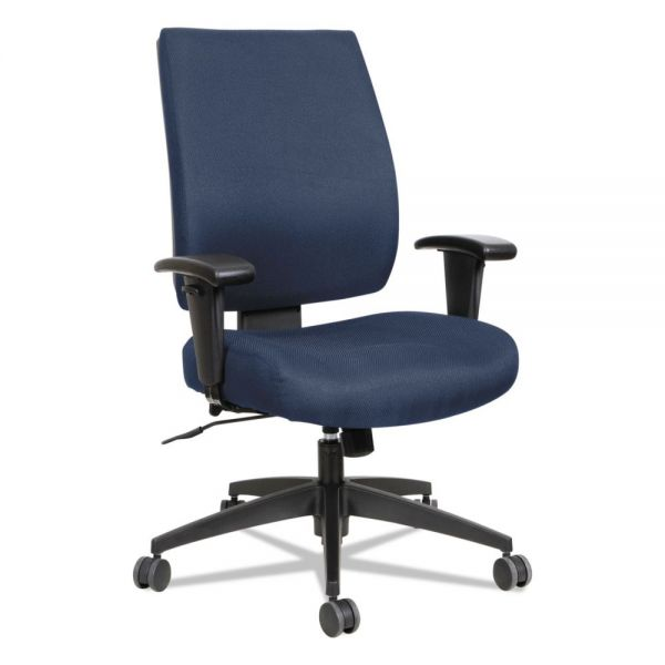 Alera Alera Wrigley Series High Performance Mid-Back Synchro-Tilt Task Chair, Blue