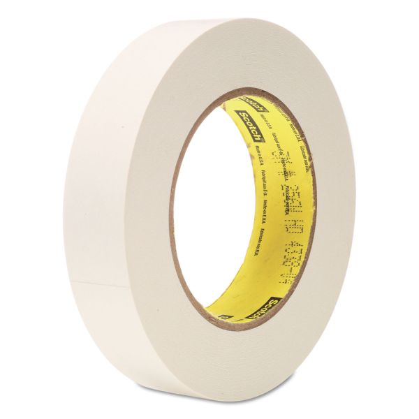 "Scotch 256 Printable Flatback Paper Tape, 1"" x 60yds, 3"" Core, White"