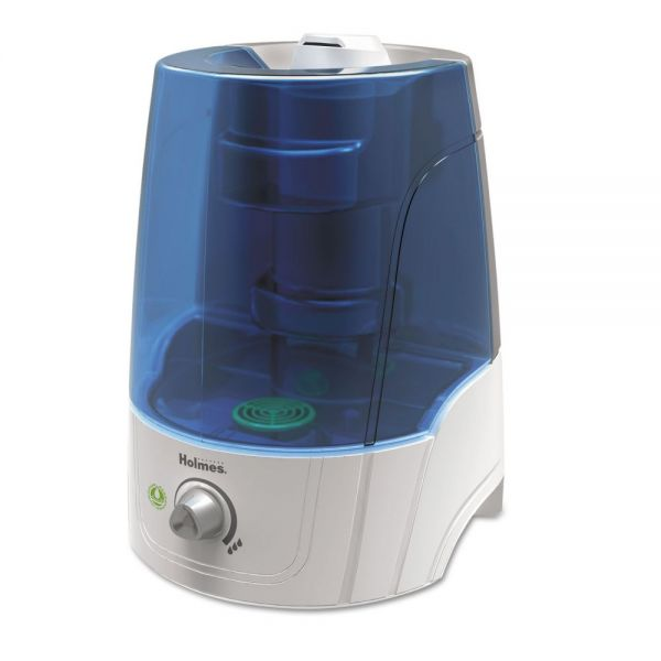 Holmes Ultrasonic Filter-Free Humidifier, 2 Gallon Output, 16w x 10d x 24h, White