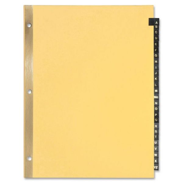 Sparco Leather Alphabet Tab Index Dividers