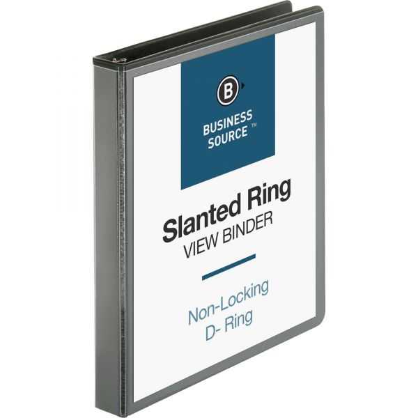 "Business Source Basic 1"" 3-Ring View Binder"