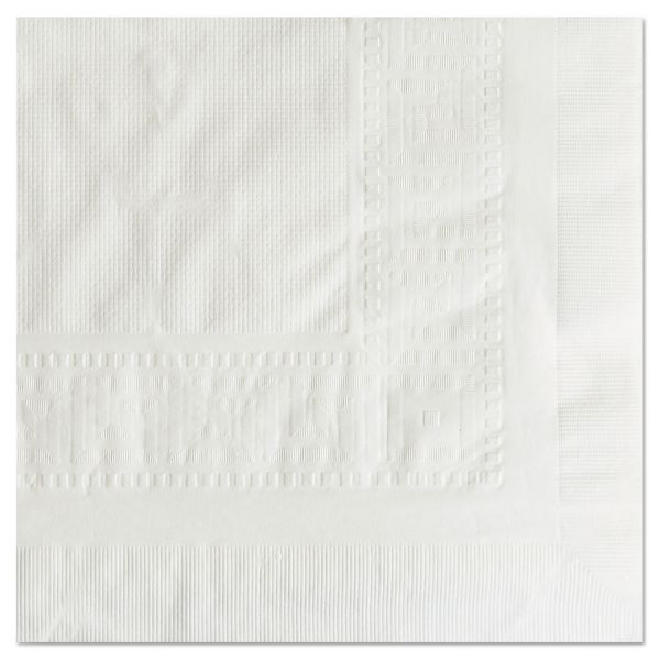 """Hoffmaster Cellutex Tablecover, Tissue/Poly Lined, 54 in x 108"""", White, 25/Carton"""