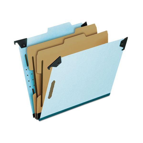 Pendaflex Pressboard Hanging Classi-Folder, 2 Divider/6-Sections, Letter, 2/5 Tab, Blue