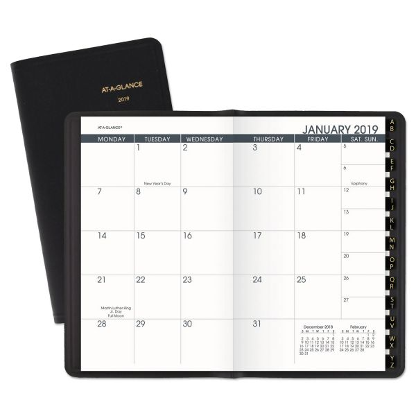 AT-A-GLANCE Pocket-Size Monthly Planner, 3 1/2 x 6 1/8, White, 2019
