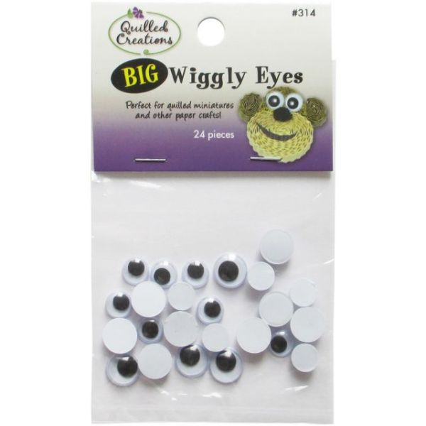 Big Wiggly Eyes 24/Pkg