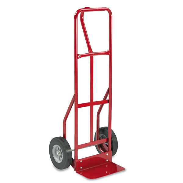 Safco Two-Wheel Steel Loop Handle Hand Truck Cart, 500lb Capacity, 18w x 47h, Red