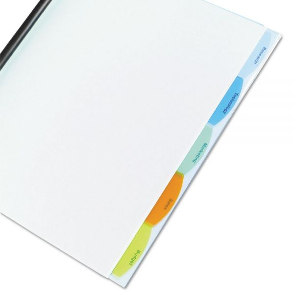 GBC Polypropylene View-Tab Report Cover, Binding Bar, Letter, Holds 20 Pages, Clear