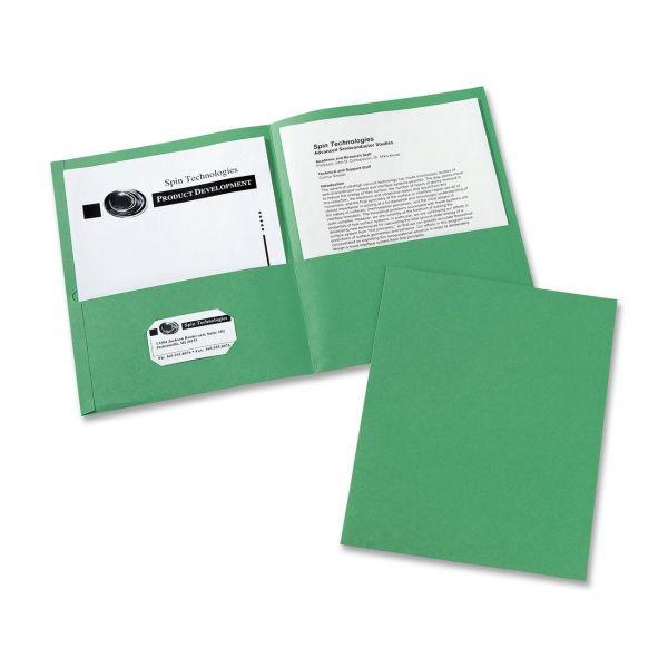 Avery Green Two Pocket Folders