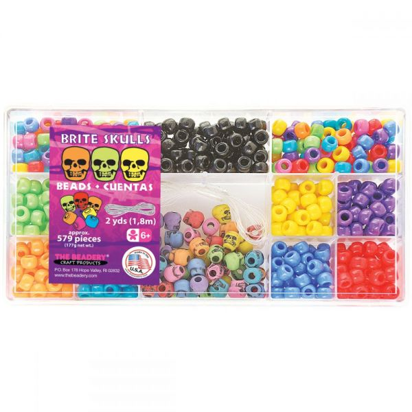 The Beadery Brite Skulls Mix Bead Box Kit