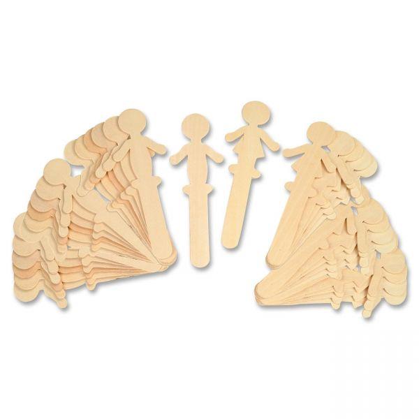 ChenilleKraft People Shaped Wood Craft Sticks