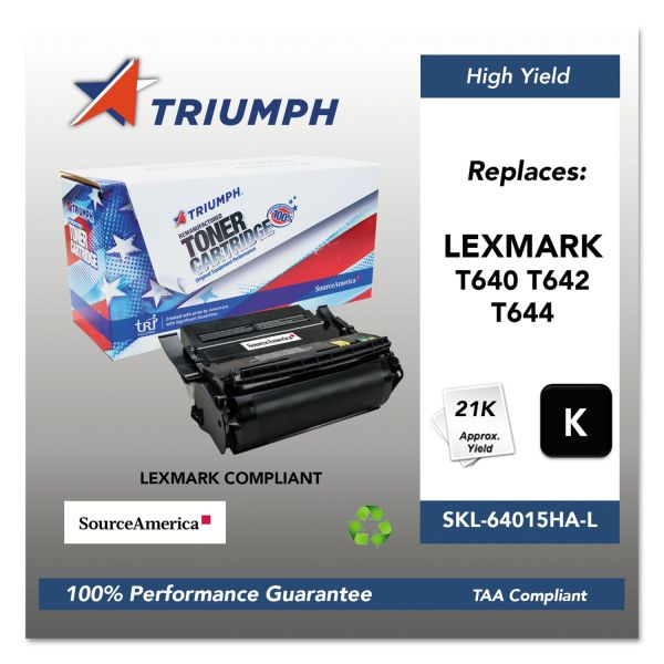 SKILCRAFT Remanufactured Lexmark T640 High-Yield Toner Cartridge