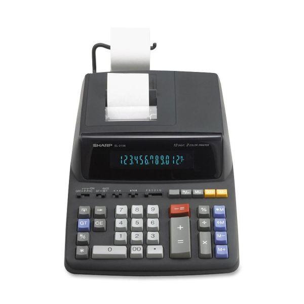 Sharp EL-2196BL 12 Digit Printing Calculator