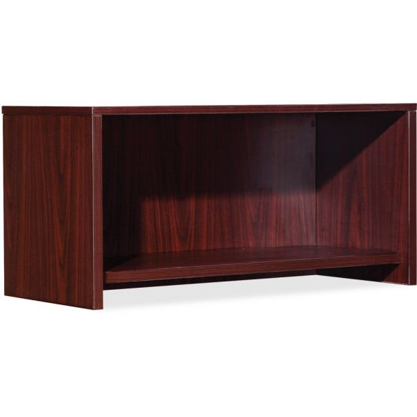 Lorell Essential Series Mahogany Wall Mount Hutch *Doors Sold Separately