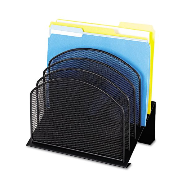 Safco Mesh Desk 5-Tiered Vertical File Organizer