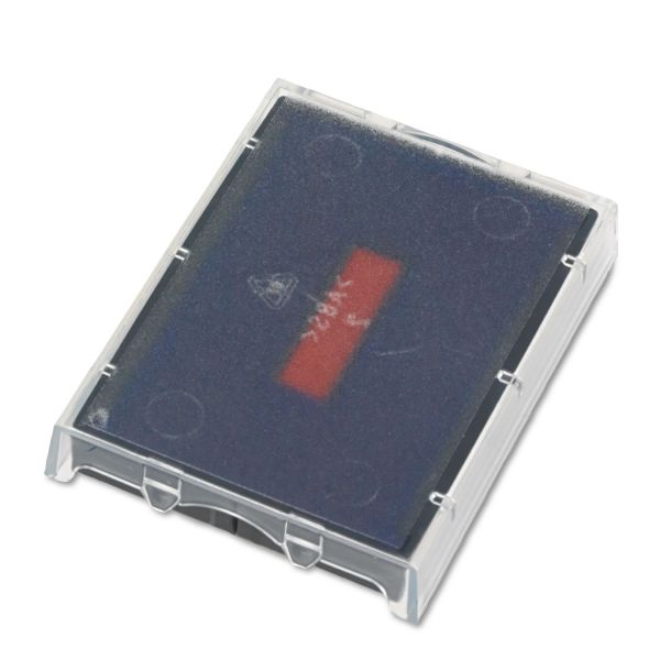 Identity Group T5470 Dater Replacement Ink Pad, 1 5/8 x 2 1/2, Blue/Red