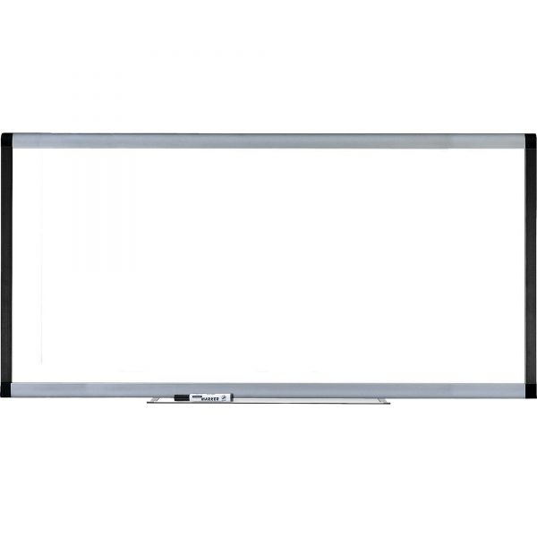 """Lorell 96"""" x 48"""" Signature Magnetic Painted Steel Dry Erase Whiteboard"""
