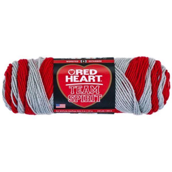 Red Heart Team Spirit Yarn - Red/Gray