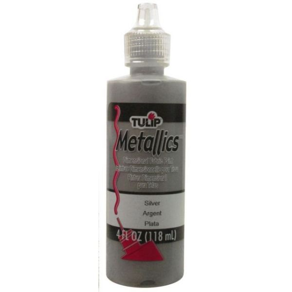 Tulip Metallics Silver Dimensional Fabric Paint