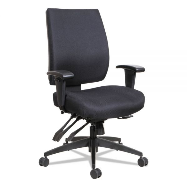 Alera Wrigley Series High Performance Mid-Back Multifunction Task Chair, Black