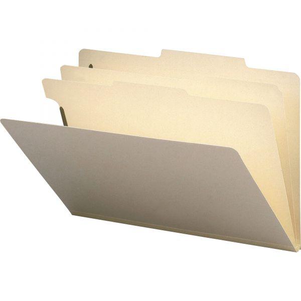 Smead Manila 2-Divider Classification Folders