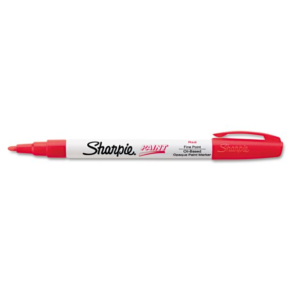 Sharpie Permanent Paint Marker, Fine Point, Red