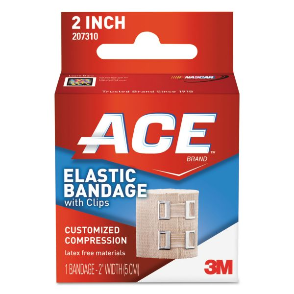 "ACE Elastic Bandage with E-Z Clips, 2"" x 50"""