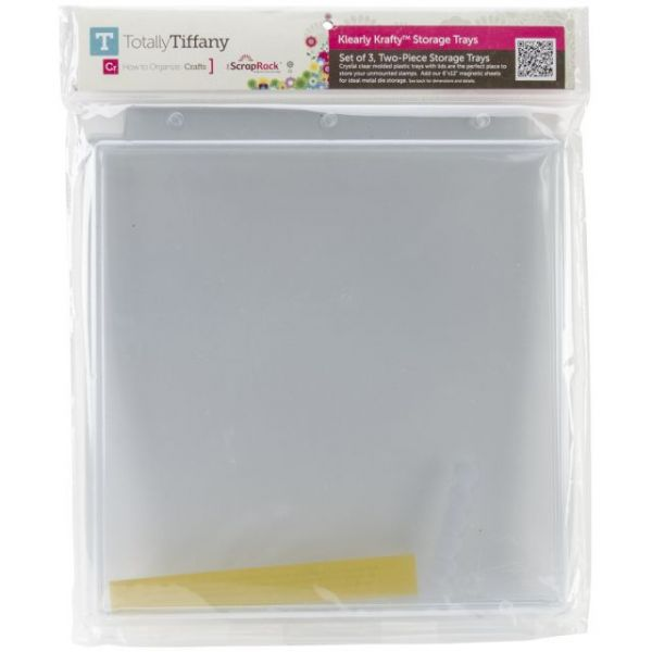 ScrapRack Klearly Krafty Stamp Storage 3/Pkg