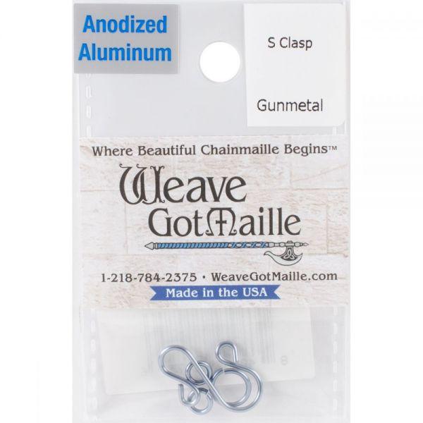 Anodized Aluminum S Clasps 1 Set/Pkg