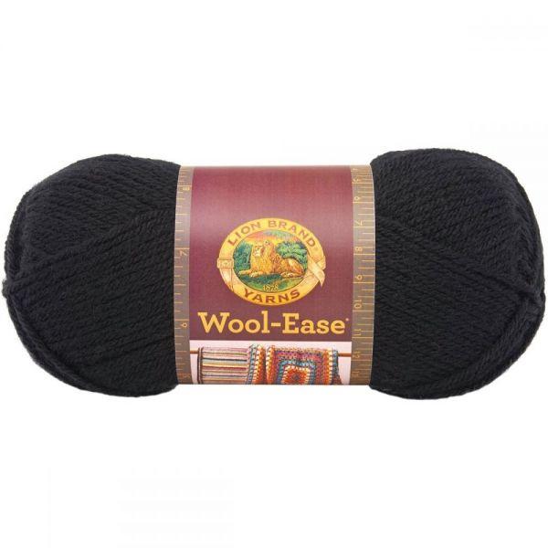 Lion Brand Wool-Ease Yarn - Black